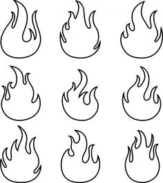 Mão desenhada de chamas de fogo no fundo branco Vetor Premium Flame Tattoos, Mini Tattoos, Cute Tattoos, Small Tattoos, Tatoos, Stencils Tatuagem, Tattoo Stencils, Art Drawings Sketches, Tattoo Drawings