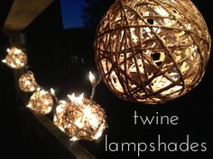 Twine Ball Lamp Shades by dbeylina