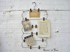 Vintage Metal Hangers for Photo & Art Display by KnickofTime on Etsy