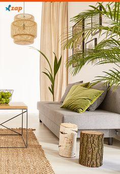 Além de móveis e objetos, é possível complementar a decoração com plantas. Clique e confira uma ideia bacana para se inspirar!