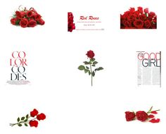 """""""Red Rose Lady Girl #124"""" by ibur-7snowflakes ❤ liked on Polyvore"""