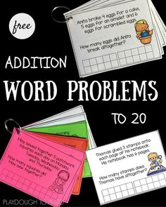 Practice addition word problems with these cute task cards!