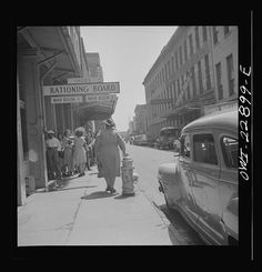 New Orleans, Louisiana. Line at a rationing board