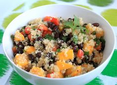 mango and black bean quinoa salad. made this for diner super yummy