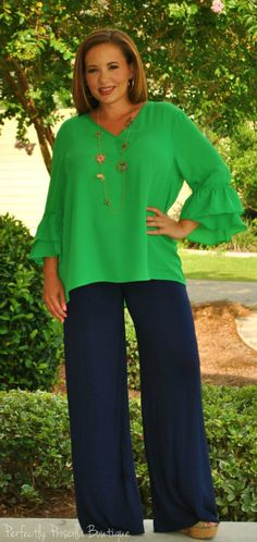 Perfectly Priscilla Boutique - Green With Envy Top, $35.00 (http://www.perfectlypriscilla.com/green-with-envy-top/)