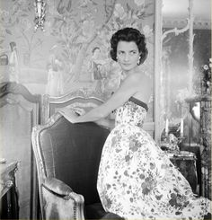 Jayne Wrightsman at home in Palm Beach, 1956