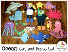 These fun cut and paste patterns are a great addition to any ocean unit. Just print, cut, and glue!