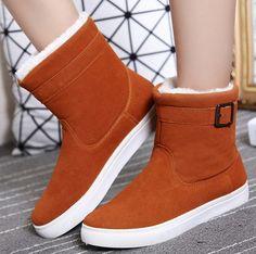 Dámské zimní zateplené boty s kožíškem sněhule HNĚDÉ – SLEVA 70% a POŠTOVÉ  ZDARMA Na f19801bfa4