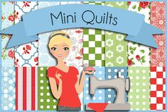 This pinner has cute boards... check it out..... Mini Quilts and mini quilting projects. I have several quilt boards: Applique, Jelly Rolls, Charm Packs, Organization, Mini Quilts and dozens of color combo boards. Follow all to see new boards (then unfollow anything not up your alley)