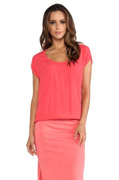 MONROW Crepe Basics Knit Maxi in Coral from REVOLVEclothing
