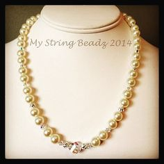 Pearls?  Yes please!  Whether you'd like to wear them for a special event or with your fav pair of jeans...pearls please!  Cultured freshwater Swarovski crystal...all gorgeous!! #pearls #fromtheheart #mystringbeadz