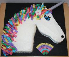 Unicorn cake: 67 great ideas as inspiration for the children& birthday party cake recipes unicornio cake cake de carne de tortilla salados individuales 9th Birthday Cake, Unicorn Birthday Parties, Girl Birthday, Birthday Ideas, Cupcake Cakes, Cupcakes, Rainbow Unicorn Party, Cake Rainbow, Pony Party