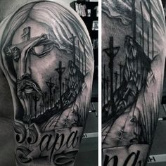 24 Best Religious Sleeve Tattoos For Men 3 4 Images Christian