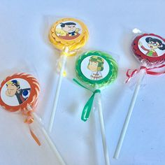 El Chavo Del Ocho Chilindrina Quico Kiko Noño Lollipops Paletas De Dulce~ Dessert Table Decoration ~birthday Party Favors~ Set Of 10 ~