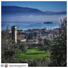 Pieve Vecchia di Manerba e l'Isola di San Biagio, Manerba del Garda (BS) Lago di Garda / Lake Garda / Gardasee #PhotoGC @GardaConcierge
