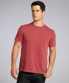 Muted Maroon Cotton Crewneck T-Shirt #T-shirt #Shirt #Men #PolosTees