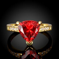 Classic Gold Plated Geometric Multicolourcolour Rhinestone Ring for Women 0 Gold Plated Rings, Heart Ring, Classic, Color, Jewelry, Women, Derby, Jewlery, Jewerly