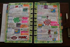 illustrated planner... would be neat to do this with kids' planners for one month!