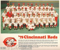 Cincinnati Reds Team | 1975 Cincinnati Reds - Team Picture Pin - 1975 World Champions