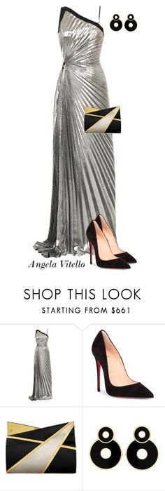 """Untitled #1092"" by angela-vitello on Polyvore featuring Thierry Mugler, Christian Louboutin and Jill Haber"