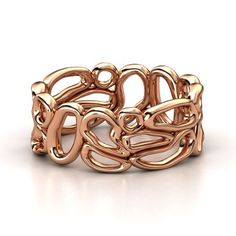 Rose Gold Ring - Desert Band: The organic forms of wind-shaped rocks, beautiful and no two the same, inspired this unique band ring. Gold And Silver Rings, Yellow Gold Rings, Jewelry Accessories, Jewelry Design, Metal Clay Jewelry, Rose Gold, Sterling Silver Jewelry, Silver Jewellery, Silver Bracelets