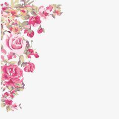 -painted flowers corner, Painted, Flowers, Corner PNG Image