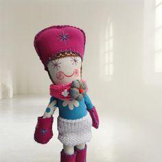 Handmade Fabric Doll Toy-Soft Doll-Doll Toy-Rag Doll-Stuffed Doll for Girl