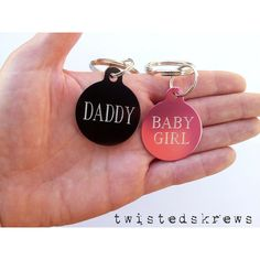 BDSM COUPLES key chain Customized engraving on BOTH sides christmas... ($19) ❤ liked on Polyvore