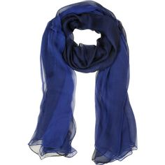 Laura Biagiotti Long Scarves Double Chiffon Silk Stole (248.390 COP) ❤ liked on Polyvore featuring accessories, scarves, sciarpe, blue, long scarves, silk stole, blue shawl, blue silk scarves, chiffon shawl and pure silk scarves