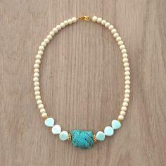 Coucou Suzette / Jasmine Necklace // white oriental necklace / statement necklace / Gypsy necklace / Boho / ethnic beaded necklace / elegant jewelry Collier