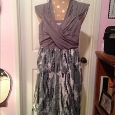 Simple dress Tie-dye bottom, grey top, cotton/spandex. Great for a barbecue  party Converse Dresses