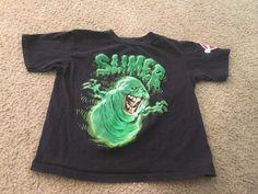 Little boys size XS 4-5 Hybrid Apparel Ghostbusters Slimer black shirt t-shirt #HybridApparel #TShirt #Everyday