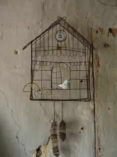Cute wire bird cage/ cuckoo clock?