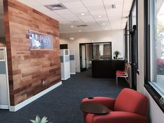 Reception area, Stikwood feature wall New office design