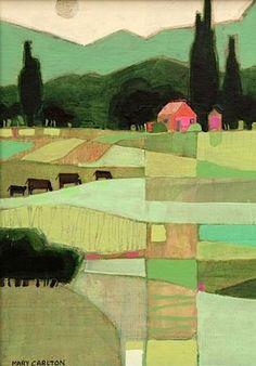 New Folk Art Painting Landscape Quilts Ideas Landscape Art, Landscape Paintings, Landscape Design, Abstract Landscape Painting, Mountain Landscape, Art Paintings, Illustration Art, Illustrations, Naive Art