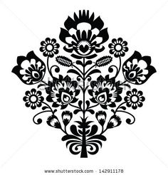 Traditional polish folk pattern in black and white by RedKoala, via Shutterstock
