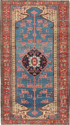 Antique Persian Bakshaish Rug 47045 Size: 6 ft 6 in x 11 ft 6 in (1.98 m x 3.51 m)