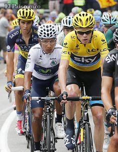 Nairo Quintana está muy cerca de la gloria en el Tour de Francia El ciclista colombiano fue el más beneficiado en la cima de Alpe DHuez, pues saltó de la quinta a la tercera plaza, a solo 21 segundos de Contador, de nuevo batido en la montaña, otrora su terreno.