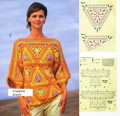 triangulo crochet - Buscar con Google