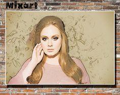 Adele 19x13 Print Poster Wall Art Adele Instagram by rockinoil