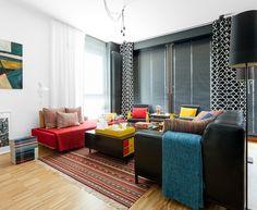 Безупречное сочетание буйства красок и строгого черного цвета. Больше стиля: http://faqindecor.com/