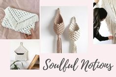 Soulful Notions is one of my all-time favorite YouTube Macrame teachers with some of the best Macrame tutorials. Her calming voice and approach to learning new knots and patterns are perfect for beginners and I can't wait to show you all the gorgeous things she can teach you how to make! Macrame Cord, Macrame Knots, Free Macrame Patterns, Macrame Wall Hanging Diy, Diy Crafts Hacks, Macrame Tutorial, Macrame Projects, Button Crafts, Learning