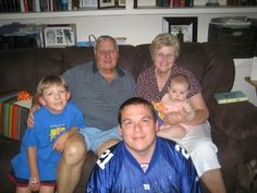 Earl and Sharon Cheshire with Roger Brown ( son in law) and grandchildren Will and Hannah Brown