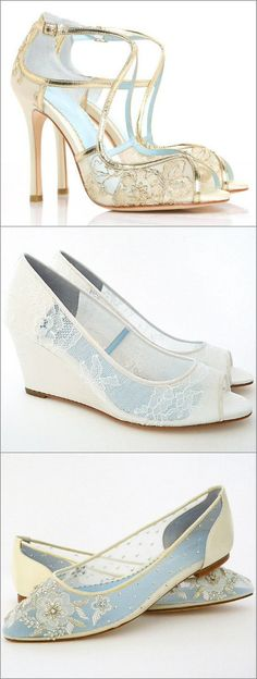 Lace Wedding Shoes! Heels, Wedges, Flats. Our collection of Bella Belle bridal…