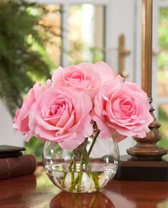 Pink Silk Rose Nosegay from Silkflowers.com