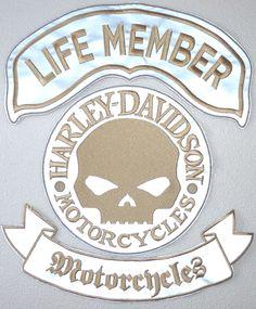 life member + skull + motorcycles catarinf