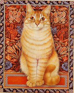 Gorgeous design by Lesley Anne Ivory <3 her Cats, especially with a touch of #WilliamMorris like this one here!