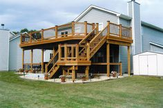 2+Story+Deck+Designs | Below is a series of pictures of a two-story deck done by Duke ...