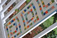 Table Runner made using scrap buster tutorial