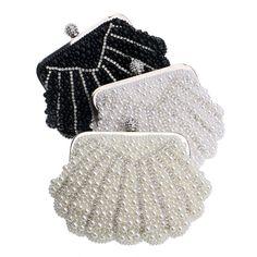 Exquisite Beaded Evening Bag Elegant Pearl Clutch Bags
